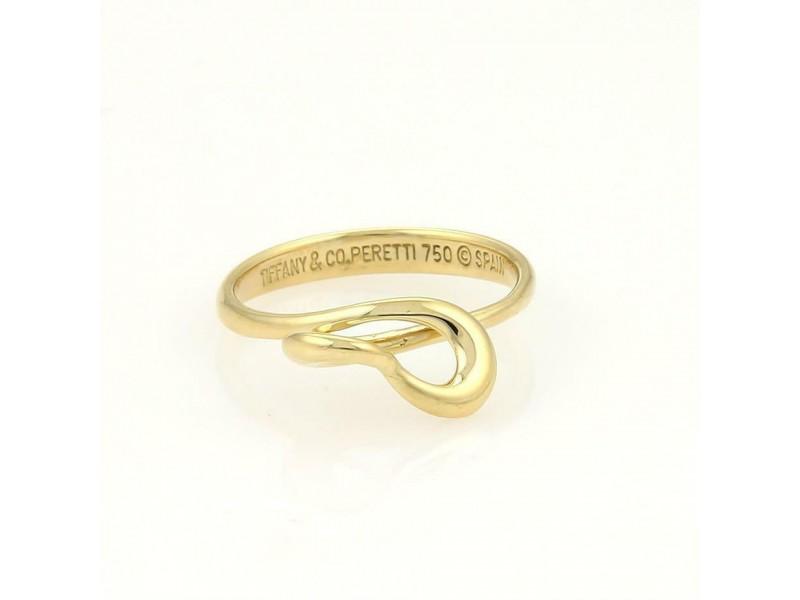 Tiffany & Co. Elsa Peretti 3D Twisted Open Heart Rings 5.75