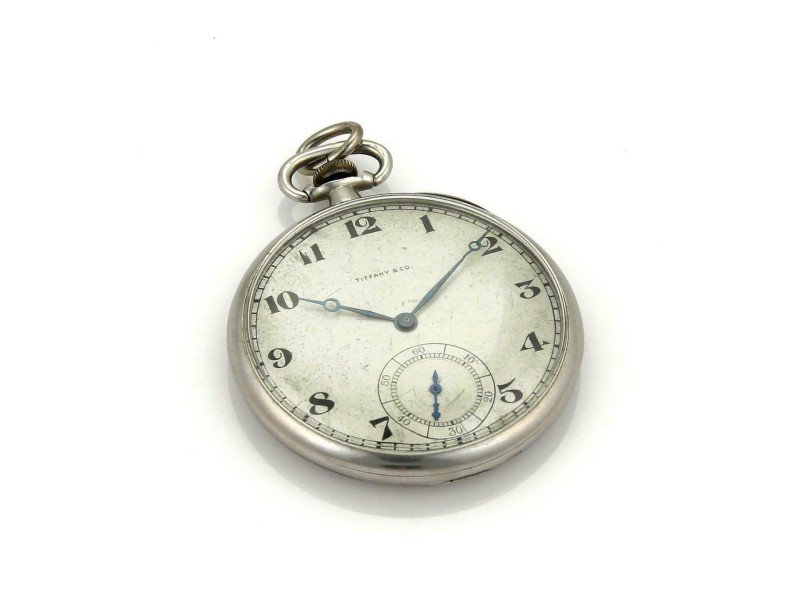 Tiffany & Co. Vintage Platinum Half Hunter 21 Jewels Pocket Watch