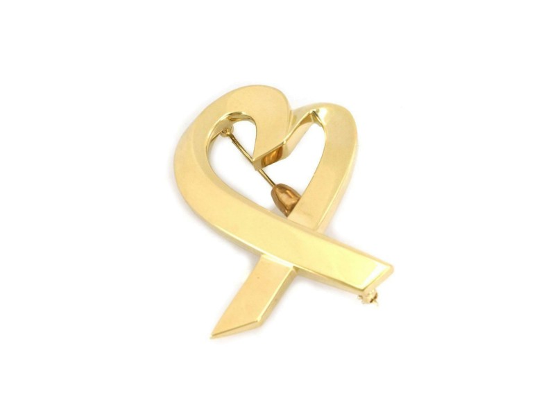 Tiffany & Co. Picasso 18k Yellow Gold Loving Heart Large Pendant