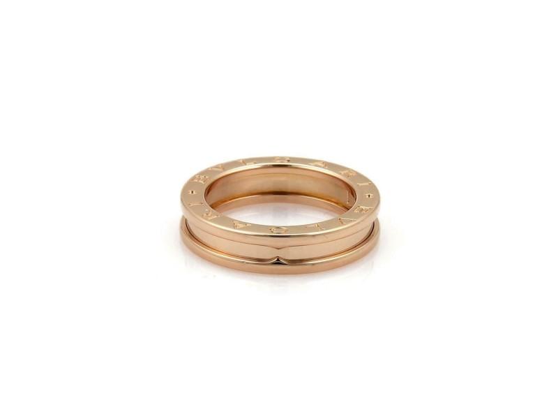 Bvlgari Bulgari B Zero-1 18k Pink Gold Single Band Ring Size 52-US 6