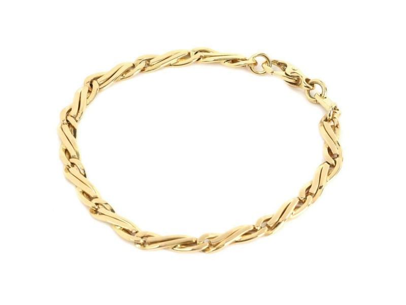 Bvlgari Bulgari 18k Yellow Gold 4.5mm Wide Fancy Link Link Bracelet