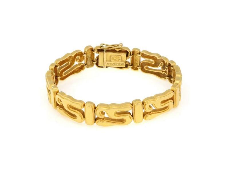 "Ilias Lalaounis Greece 18k Yellow Gold S Link Flex Bracelet 7.25"" Long"