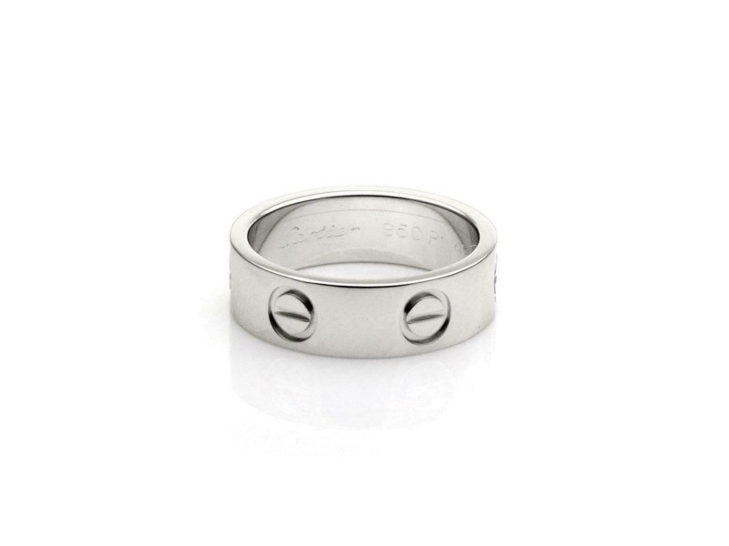 Cartier Love Platinum 5.5mm Band Ring Size 49-US 5