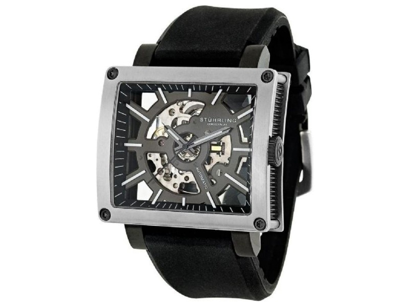 Stuhrling Classic Metropolis Axis 257.331654 Stainless Steel & Rubber 46mm Watch
