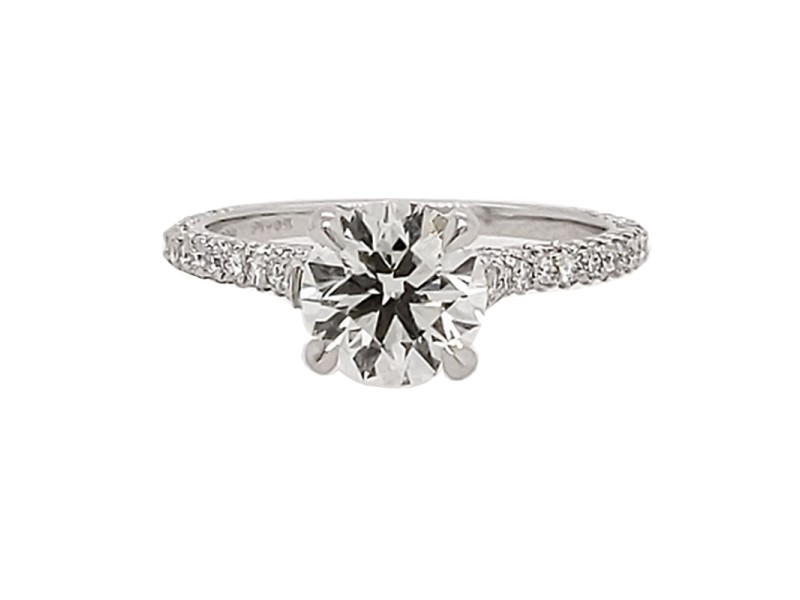 Michael B. MB1-4X-PAR-00 Platinum Diamond Ring