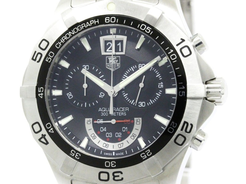 Tag Heuer Aquaracer CAF101A Chronograph Grand Date Stainless Steel Quartz 44mm Mens Watch