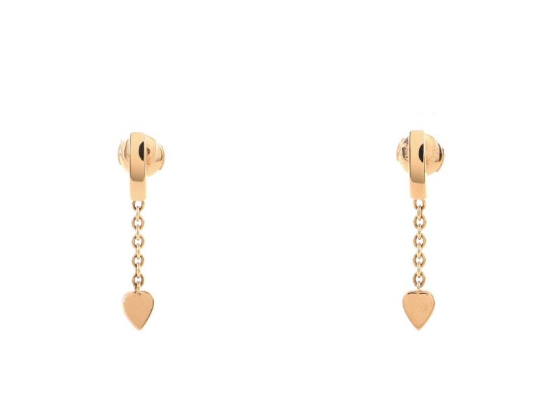 Cartier Mon Amour Heart Drop Earrings 18K Pink Gold
