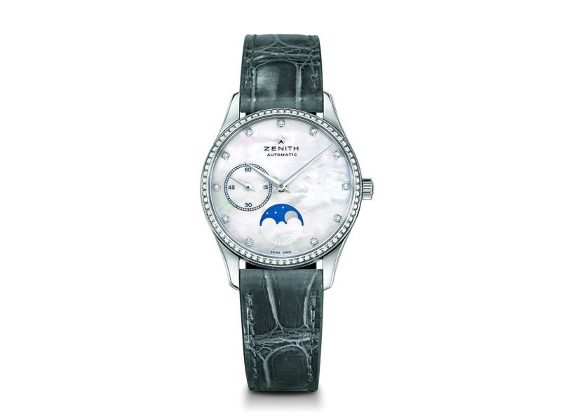 ZENITH Elite Lady Moonphase 16.2310.692/81.C706 Grey Alligator 33mm Womens Watch