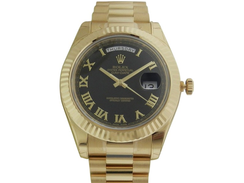 Rolex Day-Date II President 218238 41mm 18K Yellow Gold Watch