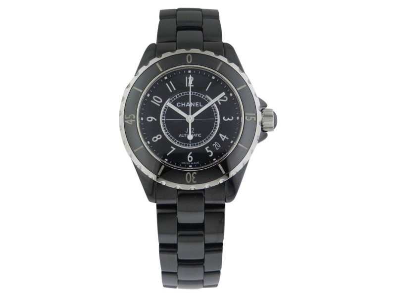 Chanel J12 Automatic 38mm h0685 Ceramic Black Watch