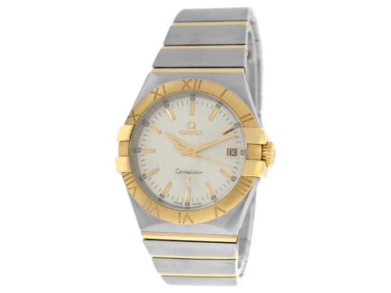 Omega Constellation 35mm 18K Gold 123.20.35.60.02.002 Full Bar Quartz Watch