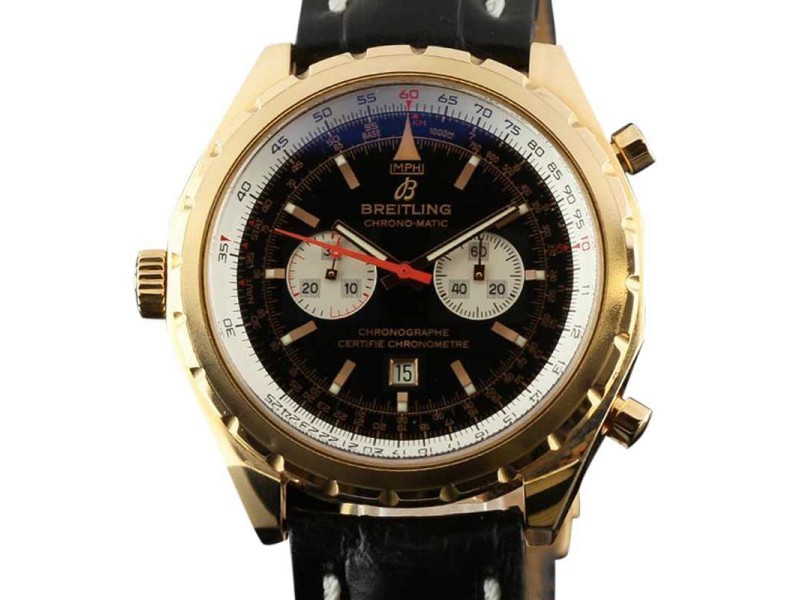 Breitling Chrono-Matic H41360 Limited Edition Rose Gold Black Watch