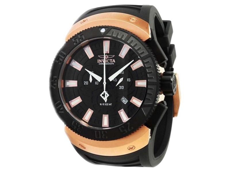 Invicta 0661 Mens Sea Scavenger Chrono Black Dial Watch