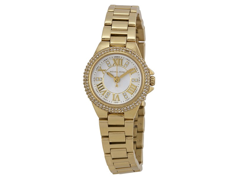 Michael Kors MK3252 Camille White Dial Gold Tone Stainless Women's Watch