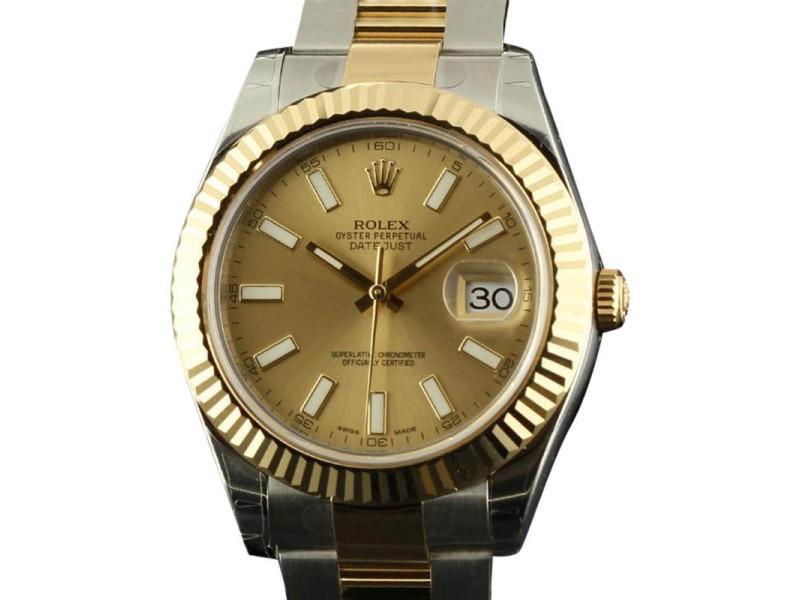 Rolex Datejust II 116333 Steel Gold Champagne 2016 Watch