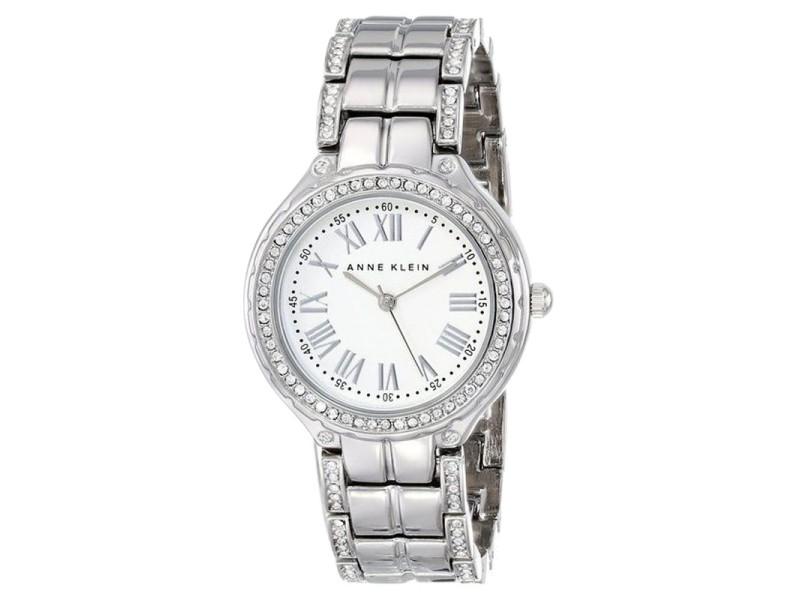 Anne klein ak 1507svsv swarovski crystal accented silver tone womens watch anne klein buy at for Anne klein swarovski crystals