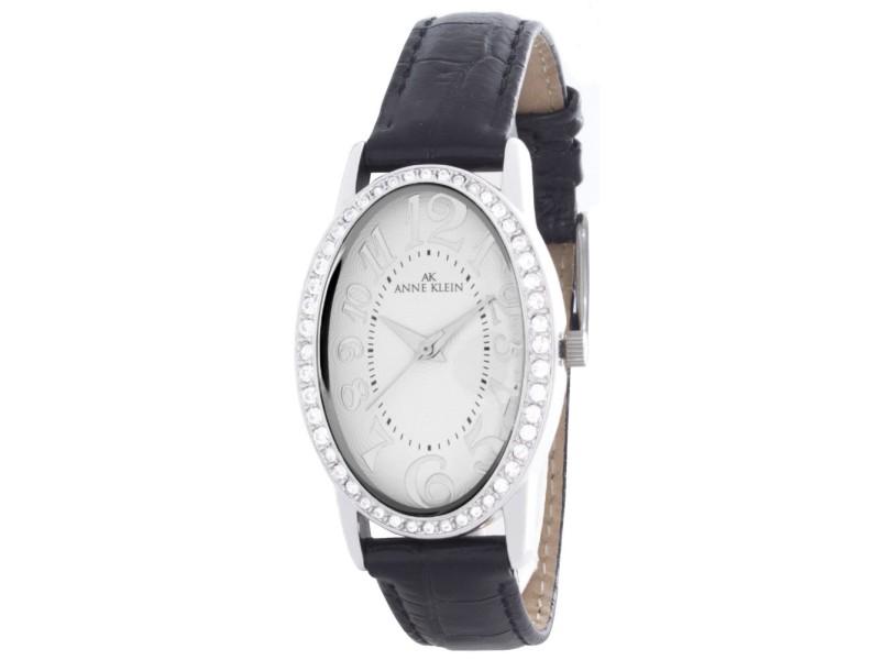 Anne klein 10 9183 white dial black leather strap womens watch anne klein buy at truefacet for Anne klein leather strap