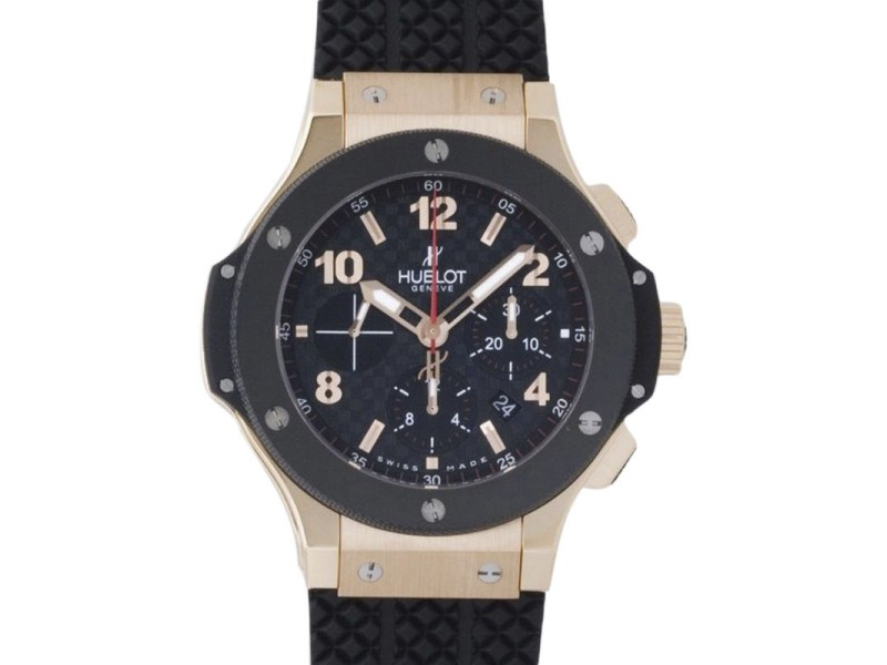 Hublot Big Bang 301.pb.131.rx Rose Gold Carbon Fiber Chronograph 44mm Mens Watch