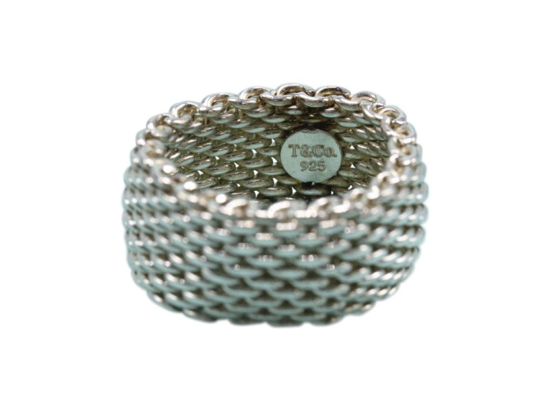 5667dc364 ... tiffany co 925 sterling silver paloma pico somerset mesh ring size 6 5  · luxury bracelet ...
