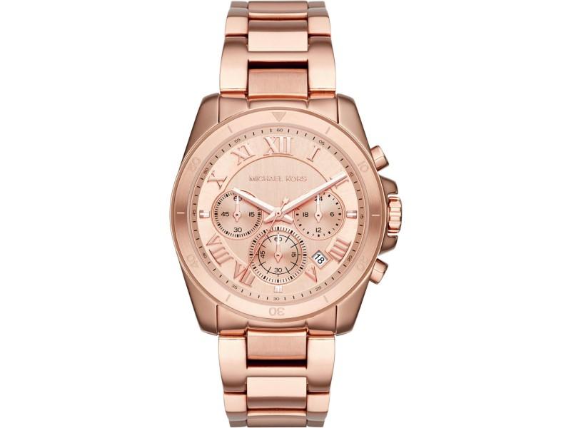 Michael Kors Brecken MK6367 Rose Gold-Tone Stainless Steel Chronograph 40mm Watch