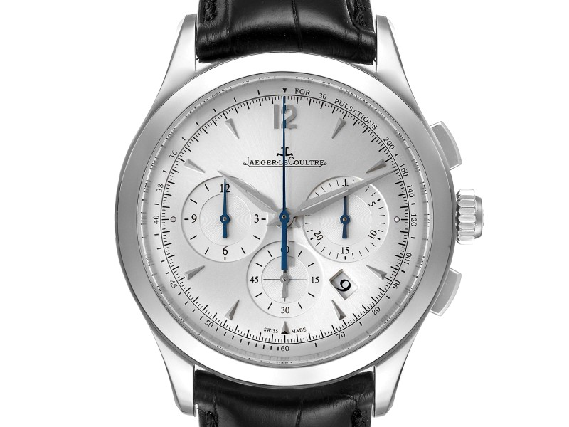 Jaeger LeCoultre Master Chrongraph Silver Dial Steel Mens Watch 174.8.C1