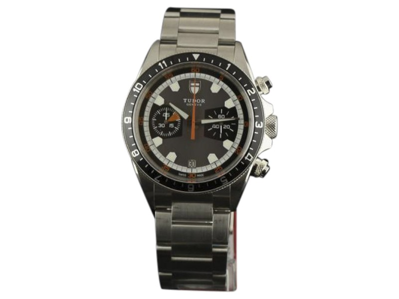 Tudor Heritage 70330N Stainless Steel & Grey/Black Dial 42mm Mens Watch