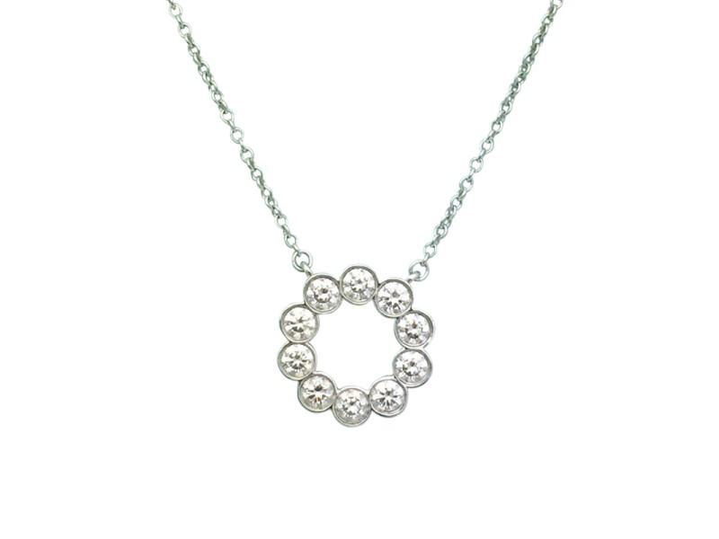 Tiffany co jazz platinum 090tcw diamond circle pendant necklace jazz platinum 090tcw diamond circle pendant necklace aloadofball Choice Image