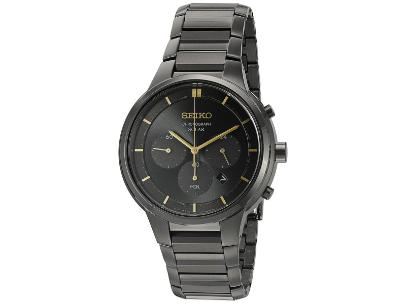 Seiko SSC441 Black Ion Plated Stainless Steel 41.50mm Mens Watch