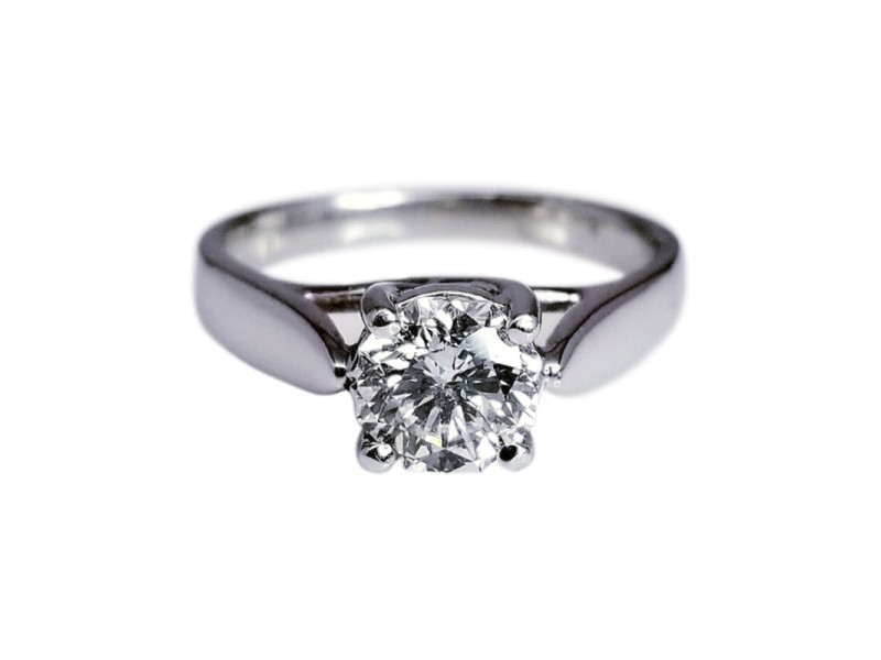 Platinum with 1.20ct Diamond Happy Octagon Engagement Ring Size 6.5
