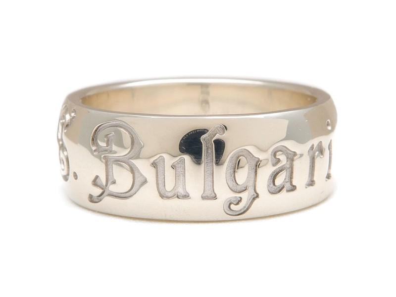 Bulgari 925 Sterling Silver Save the Children Charity Ring Size 8.5