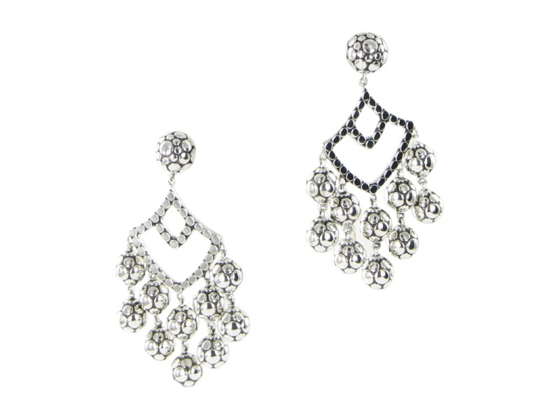 John Hardy Dot 925 Sterling Silver Chandelier Earrings