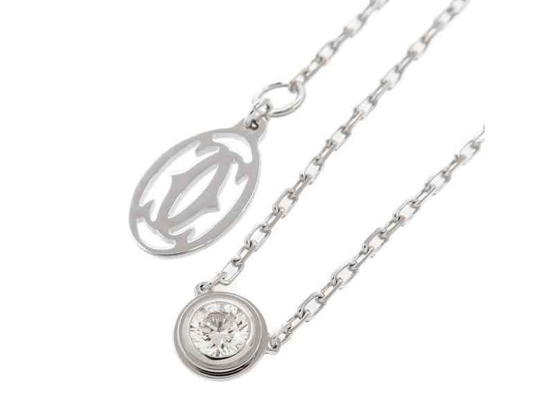 Cartier Diamants Légers Necklace 18K White Gold & Diamond