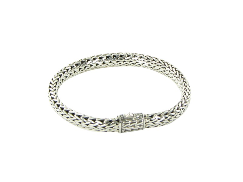 John Hardy Classic Chain 925 Sterling Silver Small Wide Classic Chain Bracelet