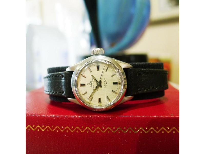 Ladies Tudor Oyster Princess Stainless Steel Watch Ref 7575
