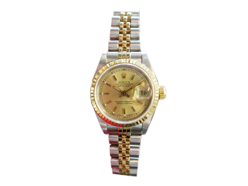 Ladies Rolex Oyster Perpetual Datejust Two-Tone Yellow Gold And Stainless Steel