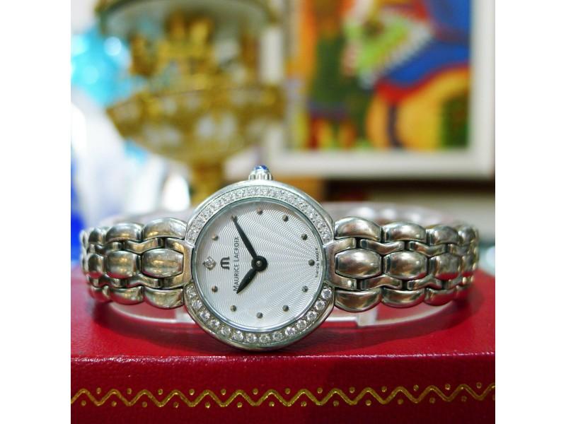 Maurice Lacroix Selena Diamond Stainless Steel Sunburst Dial Ladies Watch