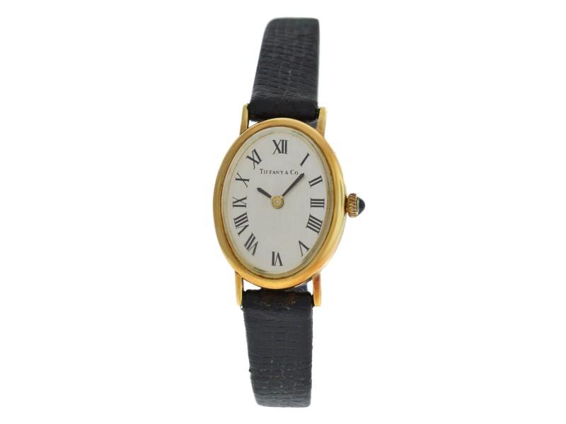 Ladies Tiffany & Co. Classic 14K Yellow Gold 27MM Mechanical Watch