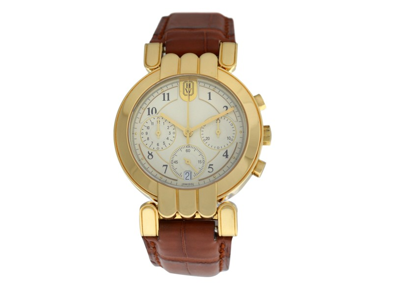 Men's Harry Winston Premier Chronograph 18K Gold Day Date Automatic 35MM Watch