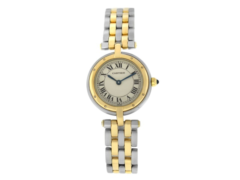 Ladies' Cartier Panthere Vendome 1057920 Two Row Gold Steel Quartz 24MM Watch