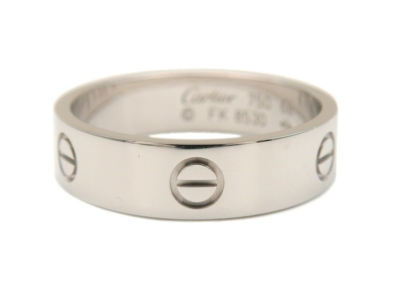 Authentic Cartier Love Ring K18 750WG White Gold #66 US11.5-12 EU66.5 Used F/S