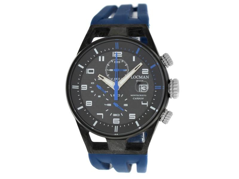 New Locman Montecristo Ref. 545 Carbon Titanium Limited Men Quartz 41MM Watch