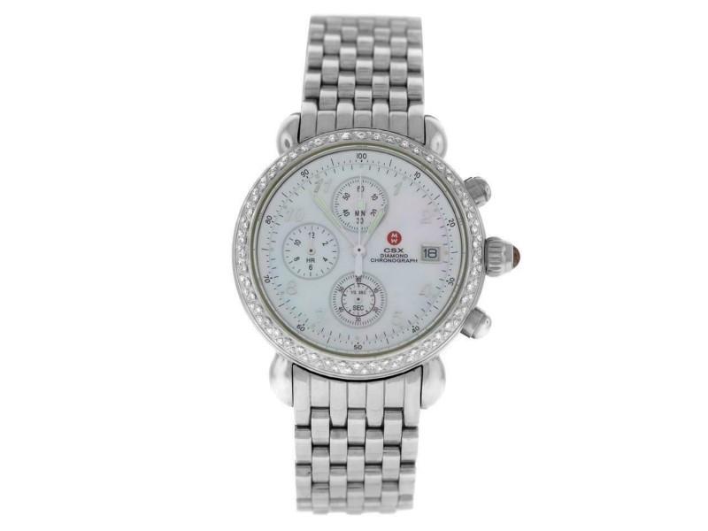 Michele CSX 71-4000/5000 Ladies' Steel MOP Diamond Quartz 36MM Watch