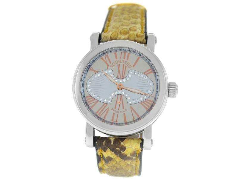 Tourneau Gotham Metro MID-GLDFOL-DD Ladies Diamond Steel 35MM Automatic Watch