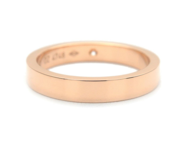 Authentic Cartier Engraved 1P Diamond Ring K18 Rose Gold #49 US5 EU49 Used F/S