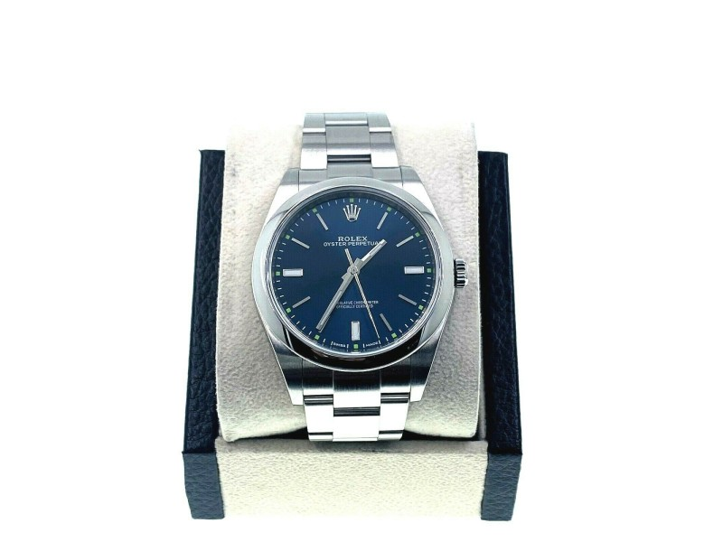 Rolex Oyster Perpetual 114300 Blue Dial