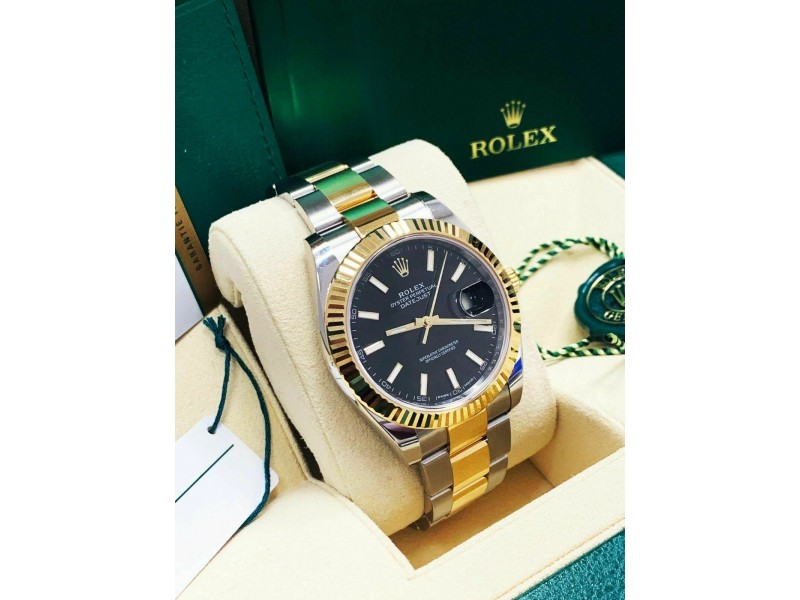 126333 Rolex Datejust 41 18K Yellow Gold & Steel Box Papers 2018