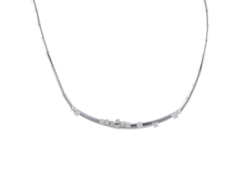 Damiani 18K White Gold with 0.43ct Diamond Constellation Choker Necklace