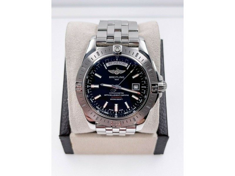 Breitling A45320 Galactic 44 Day Date USA Special Edition Stainless Box Papers