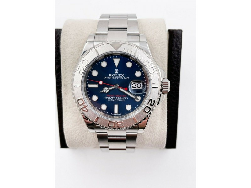 Rolex Yacht Master 116622 Blue Dial Platinum and Stainless Steel