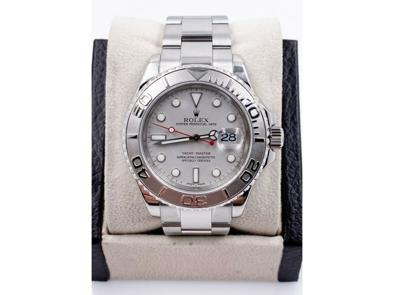 Rolex Yacht Master 16622 Platinum Stainless Steel Watch with Booklets 2006